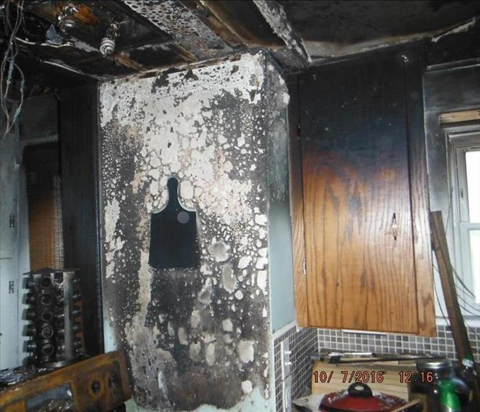Kitchen Fire Damage in Fairlawn Ohio Before